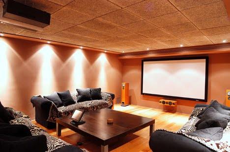 Cine en casa sistemas de altavoces ideas para decorar - Sala de cine en casa ...