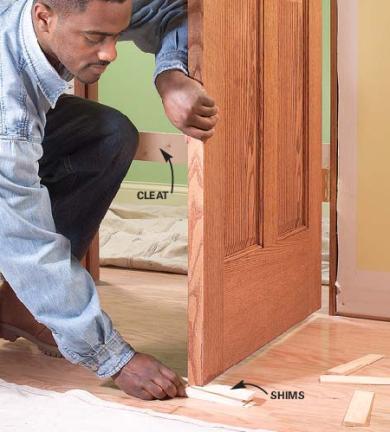 C mo colgar una puerta interior ideas para decorar for Cambiar aspecto puertas de interior