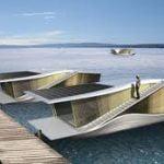 Una futurista casa flotante