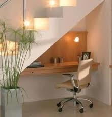 how to build a desk under the stairs