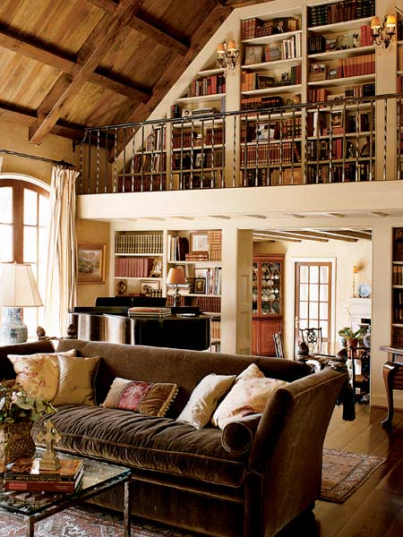 Tenga una biblioteca en casa ideas para decorar Rustic style attic design a corner full of passion