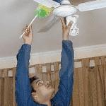 Sepa cómo limpiar un ventilador de techo y lámpara de pared