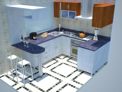 Soluciones para ganar espacio en la cocina peque a ideas for Cocinas pequenas con desayunador fotos