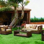 Muebles de jardín al aire libre para casas modernas