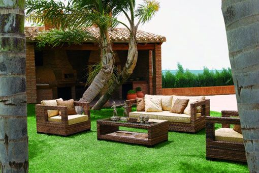 Muebles de jard n al aire libre para casas modernas for Jardines modernos para casas