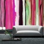 Los espacios pequeños del hogar con colores brillantes.