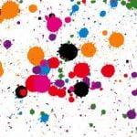 Un toque de modernidad con las salpicaduras de pintura