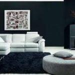 Los muebles blancos para sala dan formalidad y estilo