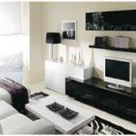 Hacer todo junto con un diseño de sala moderna