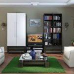 Estilos contemporáneos de vida de las diferentes habitaciones