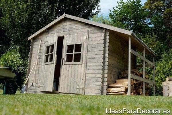 casa de madera jardin