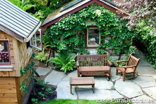 Casas de madera para el jard n disfruta m s el verano - Casa de madera jardin ...