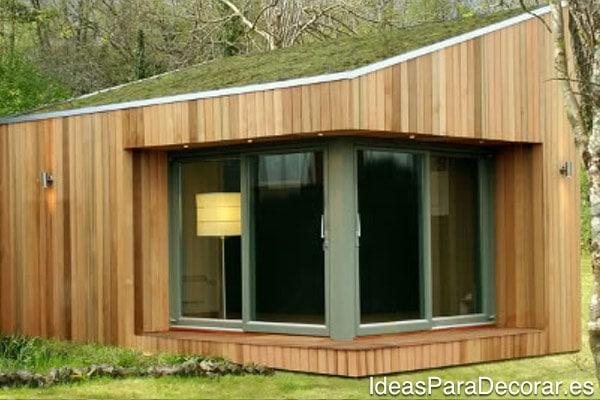 casa madera jardin verano