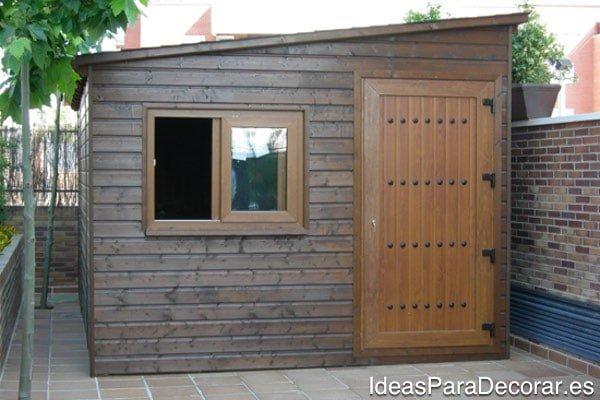 casas de madera jardin