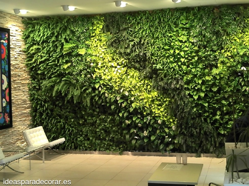 Jardines verticales ideas para decorar - Jardin vertical interior ...