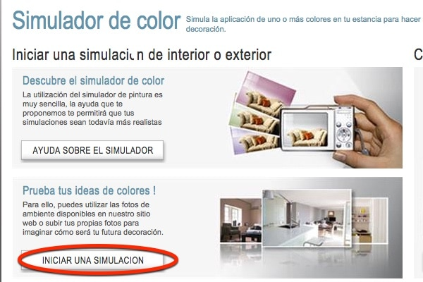 Utiliza un simulador de pintura para saber c mo quedar - Simulador colores habitacion ...